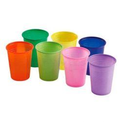 Vasitos Plástico Colores 200 cc, 3.000 unid.
