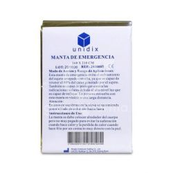 Manta térmica individual para tratamientos dorada, 1 und.