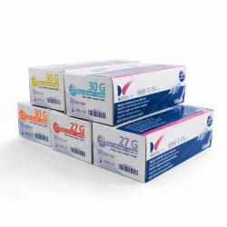 AGUJAS MEDICALINE 27G CORTA 0,4x25mm 100uds.- MEDICALINE