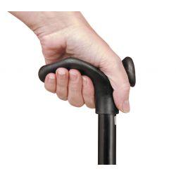 Bastón ajustable de empuñadura confort para zurdos