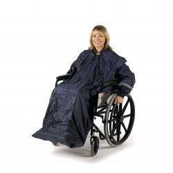 Chubasquero forrado con mangas Deluxe Splash para silla de ruedas - M