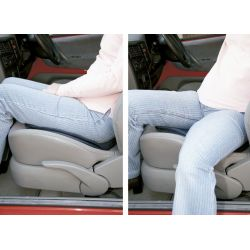 Cojín giratorio flexible para coche