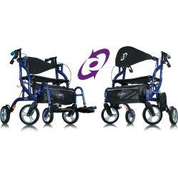 Airgo Fusion™: andador y silla de ruedas en uno. Plegable.