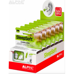 Tapones Alpine SleepSoft en cajas para display