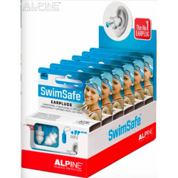 Tapones Alpine SwimSafe en cajas para display