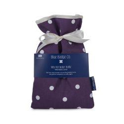 Botella de agua caliente mini violeta punteada