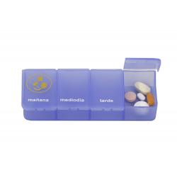 Able2 pastillero 1 dia 4 compartimentos azul castellano