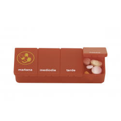 Able2 pastillero 1 dia 4 compartimentos rojo castellano