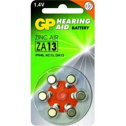 GP pilas audifono ZA13 6 uds