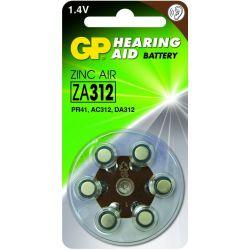 GP pilas audifono ZA 312 6 uds